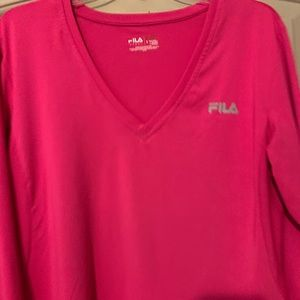 Pink workout shirt